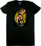 Vince Ray Classic Lady Luck Womans Tee Shirt Lucky Lady with 4 Leaf Clover, Monkey Wrench, 8 Ball, and Flames
