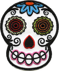 Von Spoon White Sugar Skull Patch Image