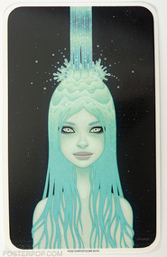 Artist Tara McPherson Crystal Waterfall Sticker, Girl Water, Transform