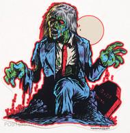 Ben Von Strawn Un-Dead Sticker. Zombie Graveyard. Living Dead