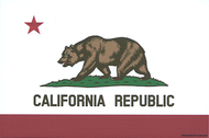 Pop Industries Cal Bear Flag Sticker, California, State Flag, Car Sticker, Decal, California Republic
