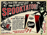 Vince Ray Spooktator Fine Art Print on Canvas, Guitar Amp, Amps, Eerie, Spooky. Stole my Panties, Cave Valley Amps