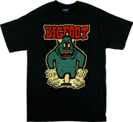 Ben Von Strawn Bigfoot T-Shirt, Sasquatch, Big Tennis Shoes, Cartoon, Monster