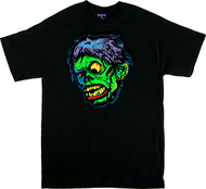 Ben Von Strawn Shock T-Shirt, Monster, Shocking, Ugly, Face, Green, Awesome