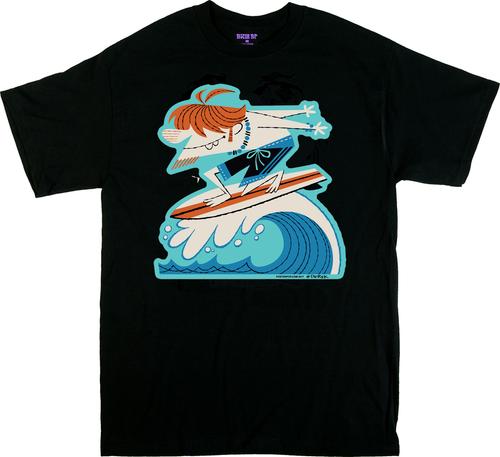 DY50 Derek Yaniger Quasimodo SurferT Shirt, Surf, Surfing, surfboard, Must the Surf, Cartoon, Retro, 60s, Surf Trunks, Retro, Curl, Wave