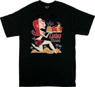 Derek Yaniger Luau Time T-Shirt, Shirt, Mens T-S, Poster Pop, Hula Girl, Hawaii, Hawaiian, Islands, Paradise, Feast, Sexy, Redhead, Girl, Pinup, Skirt, Hair Flowers, Fruit, Food, Dinner, Fun, Funny, Retro, Burlesque, Pinup, Poster Pop, Retro, Pinup, Rockabilly, 50s. 60s, Cartoon, Sexy, Funny