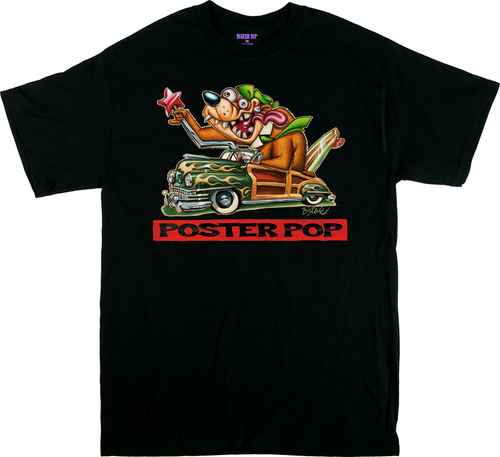 BigToe PPOP Cali Bear T Shirt California Bear Flag, Posterpop.com Poster Pop