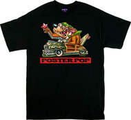 BigToe PPOP Cali Bear T Shirt California Bear Flag, Posterpop.com Poster Pop