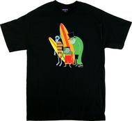 SH10 Shag Beach Bunch T Shirt, Surf Monsters, Surfing, Surfboards, Monsters, Disney
