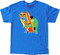 SH10 Shag Beach Bunch T Shirt on Blue Tee, Surf Monsters, Surfing, Surfboards, Monsters, Disney