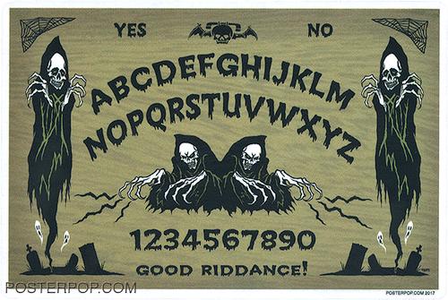Pigors Talking Board Sticker, Ouiji Board, Mystical, Spirit, Image