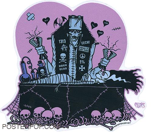 PGS66 Pigors Revival Sticker. Frankenstein, Bride of Frankenstein, Electrodes, Shock, Reanimated, Resurrected, Alive