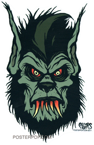 Pigors Bloody Wolfman Sticker, Monster, 3rd Stage, Half Human, Wolf, Fangs, Teeth, Bite