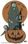 Artist Pigors Halloween Moon Sticker, Frankenstein, Bride, Witch, Halloween Costumes, Kid, Knife, Funny, Cartoon, Bats, pumpkin, Toxictoons