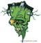 Artist Eric Pigors Franken-Tongue Sticker, Frankenstein, Monster, Cartoon, Silly, Rat Fink, Pop Eye