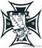 Artist Eric Pigors Franken-Cross Sticker, Iron Cross, Frankenstein, Cartoon, 13, 1313, Devil