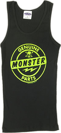 Kruse Genuine Monster Parts Womans Baby Doll Tee and Ribbed Tank Top