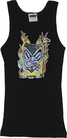 Von Franco SMOKIN TIKI Woman's Baby Doll Tee and Boy Beater Tank