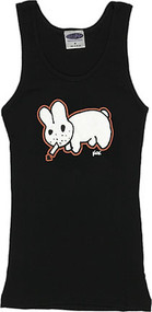 Kozik Original Smoking Bunny Woman's Baby Doll Tee and Boy Beater Tank
