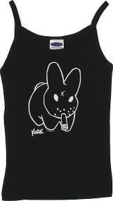 Kozik BLACK BUNNY Woman's Baby Doll Tee and Boy Beater Tank