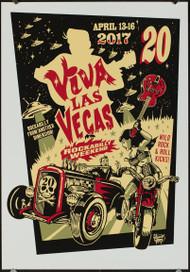 P-VRVLV20 Viva Las Vegas VLV20 Silkscreen Poster 2017 by Vince Ray
