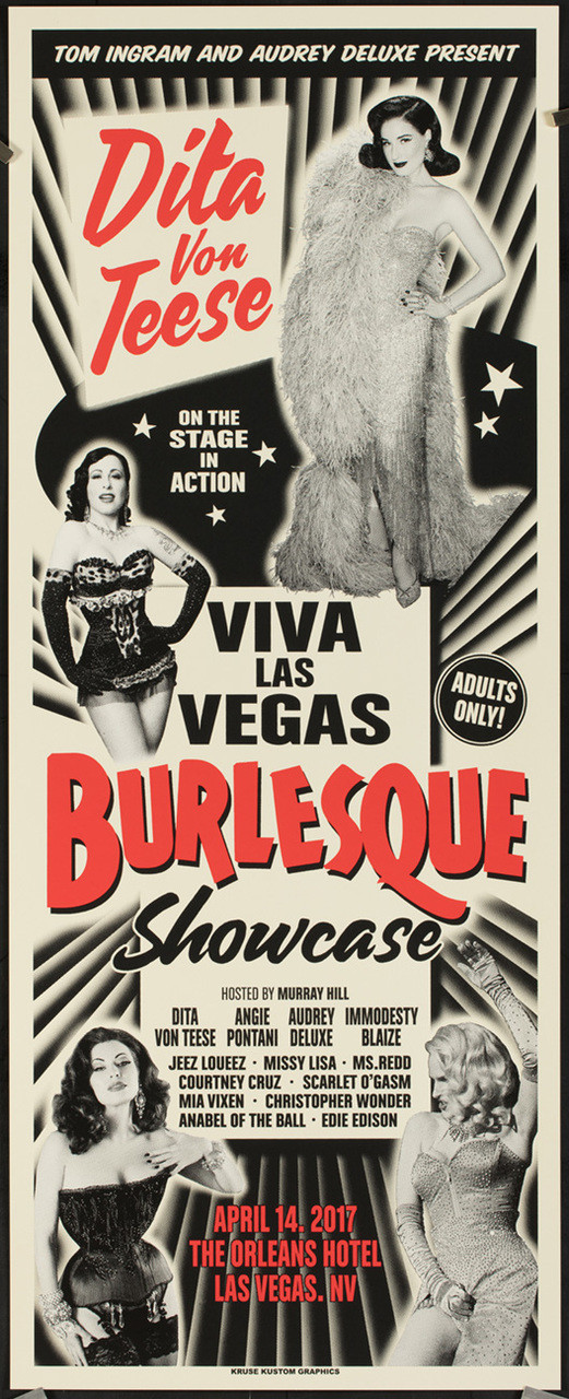 Viva Las Vegas Rockabilly Weekend POSTER VLV17 Vince Ray Silkscreen Mint conditi