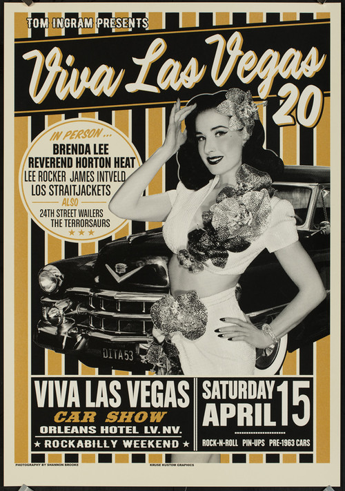 Viva Las Vegas VLV20 Silkscreen Car Show Poster 2017 by Rob Kruse