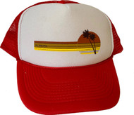 Almera California 70s Trucker Hat Red