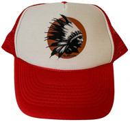 Almera Comanche Chief Trucker Hat Red