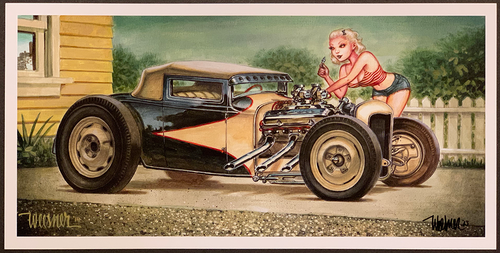 P-KWA39 Weesner Competition Coupe Signed Art Print Image