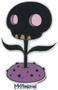 TMS70 Tara McPherson Black Skull Flower Sticker