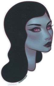 TMS71 Tara McPherson Blue Lady Sticker