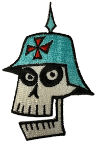 Shag German Skull Vintage 2000 Embroidered Patch