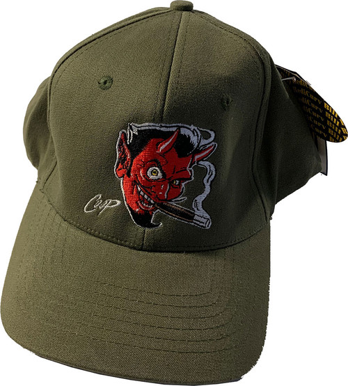 CPH10 Coop Original Pre-Production Devil Head Hat Olive Sample 1 of 1