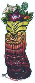 BigToe Zombie Sunrise Tiki Mug Sticker Image