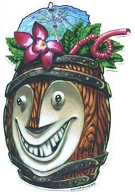 BigToe Rum Barrel Bob Tiki Mug Sticker Image