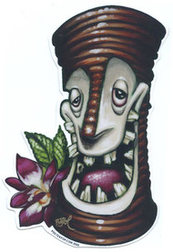 BigToe Party Bob Tiki Mug Sticker Image