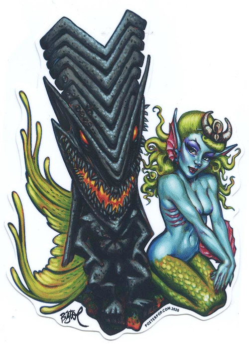BigToe Lava Mermaid Sticker Image