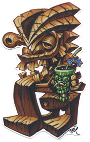 BigToe Tikis Dilemma Sticker Image