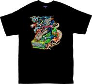 BT76 BigToe Vantasy T Shirt, Custom 70s Van, Wizard Image