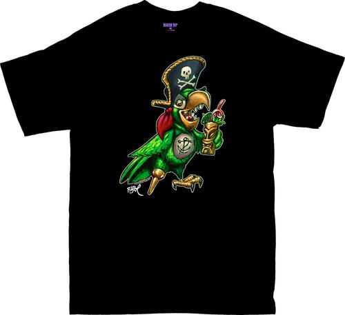 BT70 BigToe Party Pirate Parrot T Shirt Image