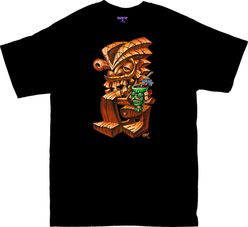 BT63 BigToe Tikis Dilemma T Shirt Drunken Tiki Bar Image