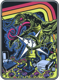 DDS79 Dirty Donny Centepede Attack Sticker Image