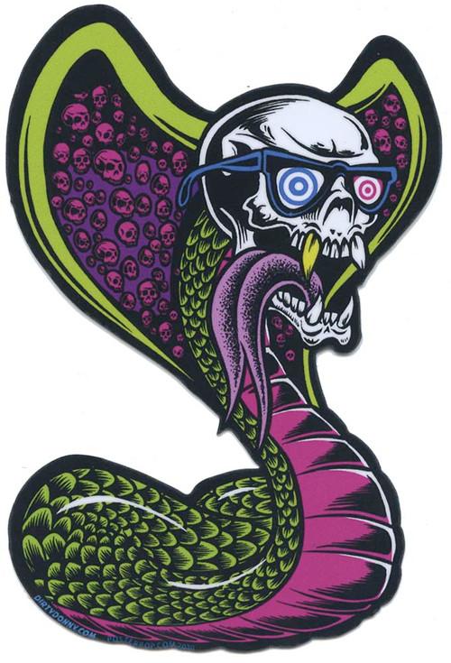 DDS83 Dirty Donny King Slerm Sticker Cobra, Skull, Image