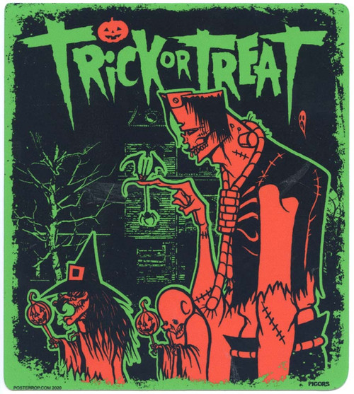 PGS75 Pigors Trick or Treaters Sticker Image