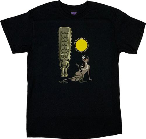 SH128 Shag Hula Tiki Sun T-Shirt
