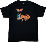SH123 Shag Tiger Cat T-Shirt, Shag Cat, Tiki Mug, Tiki Drink, Stripes, French Kitty Image