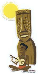 SHS129 Shag Ukelele Tiki Sun Sticker