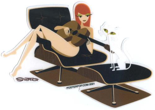 SHS124 Shag Eames Lounge Sticker