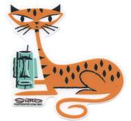 SHS123 Shag Tiger Cat Sticker